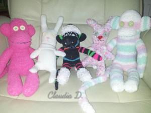 Die ersten Socken-Affen und Handschuh-Hasen