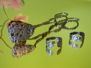 Gebäckzange Silber mit Rosenranken