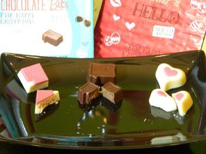 Links: Coconut love Mitte: Caramel Brownie Rechts: Berry Affair