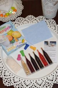 Inhalt Osterstempelei mit 4 Stempeln und 6 Farben