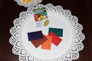 Färbeblättchen in 5 Farben