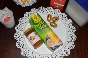 Maracuja-Marmelade Maracuja-Saft und viel zu kleine Schokohohlkörper